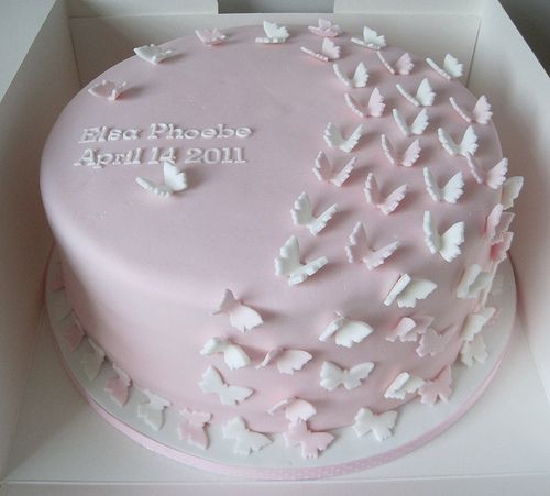 Butterfly Christening cake | Flickr - Photo Sharing!