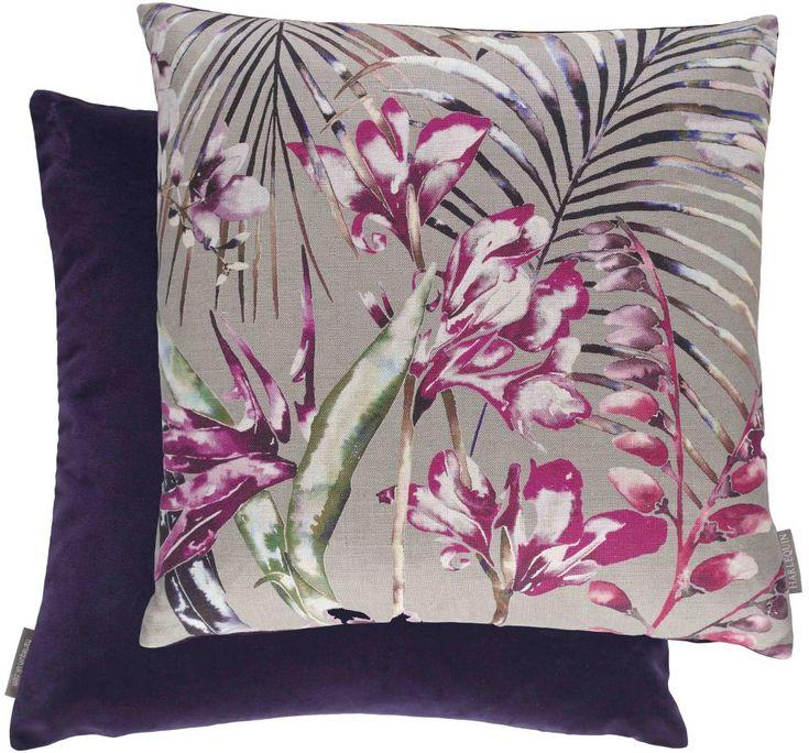 Paradise Cushion Raspberry Raspberry cushion by Harlequin