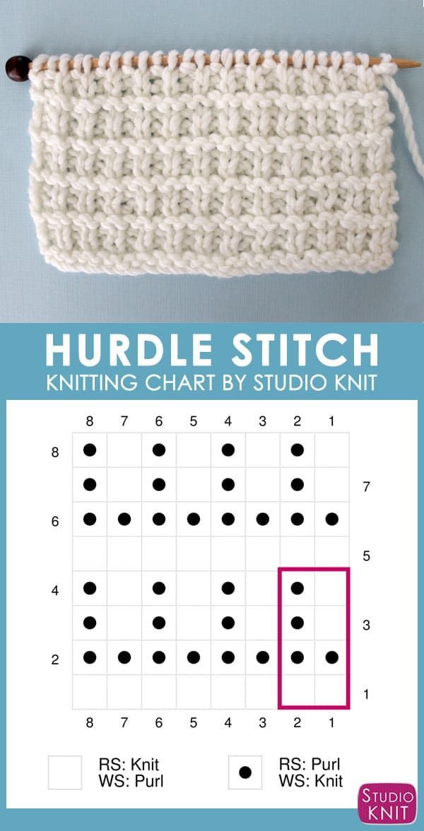 How to Knit the Hurdle Stitch with Studio Knit.