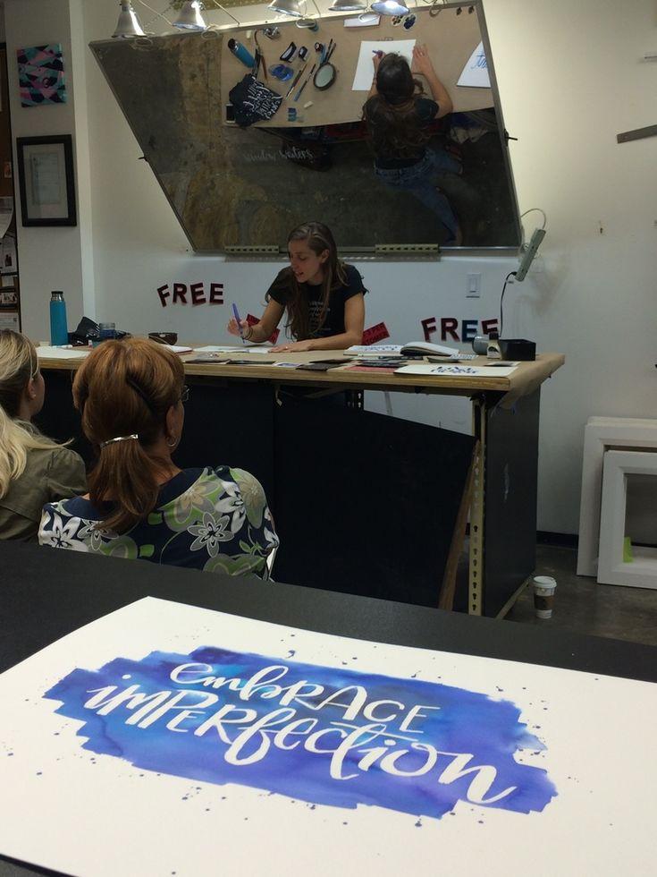 Hand-Lettering Workshop Demo Blog Post