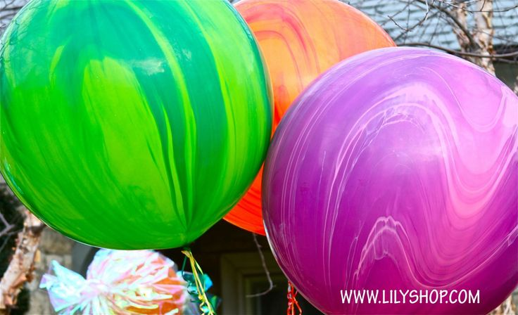 They got it right with these balloons.  They look like they are right out of Wonka's factory.