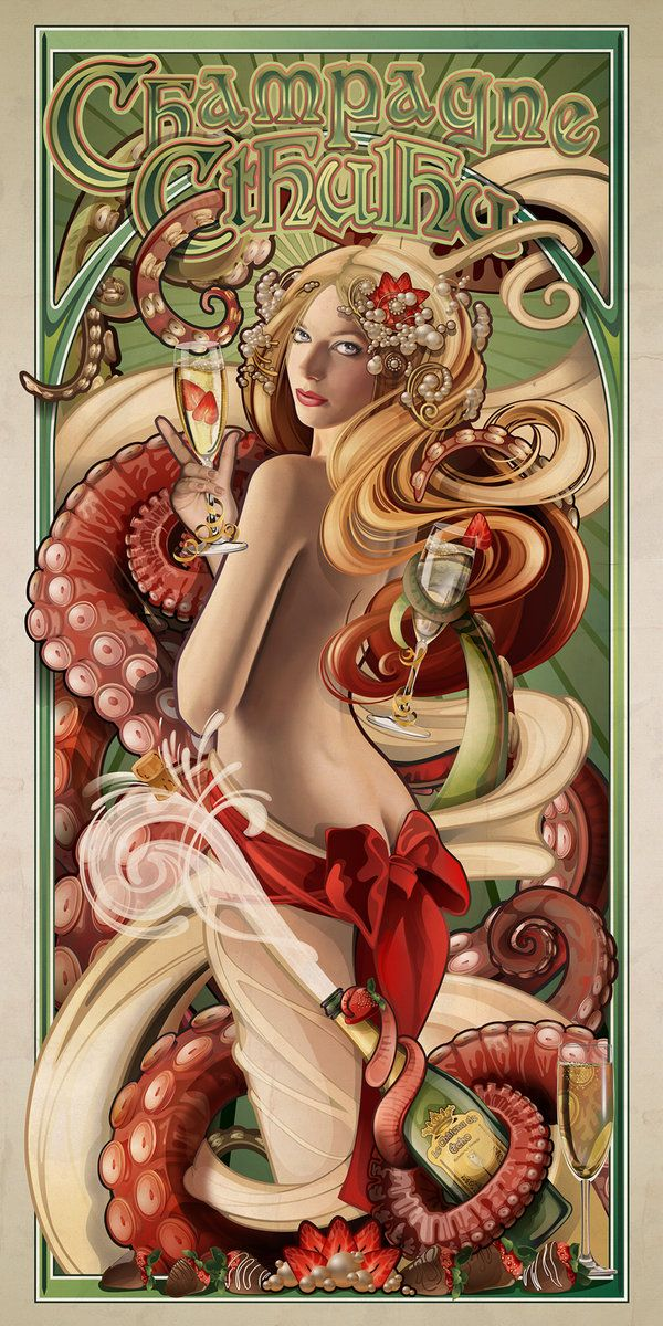 Champagne Cthulhu by echo-x on DeviantArt