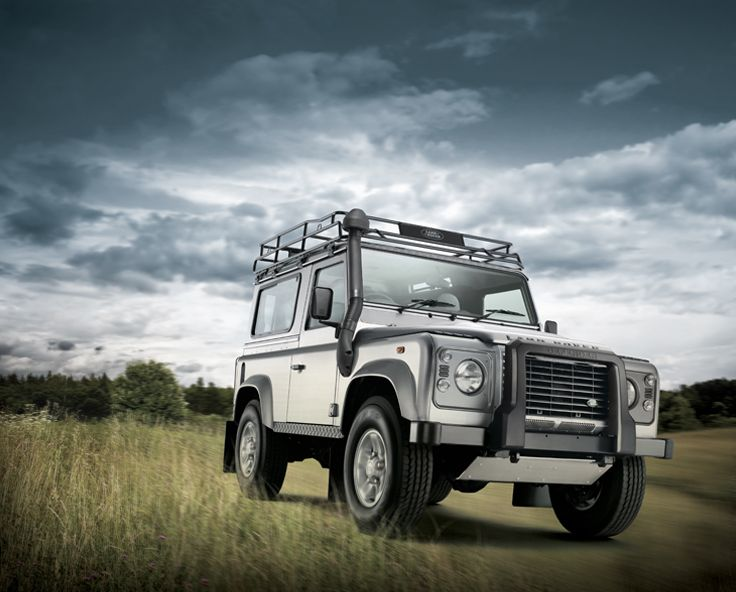 Image manipulation of Land Rover - lighting, background, colours etc - to create the right mood/look