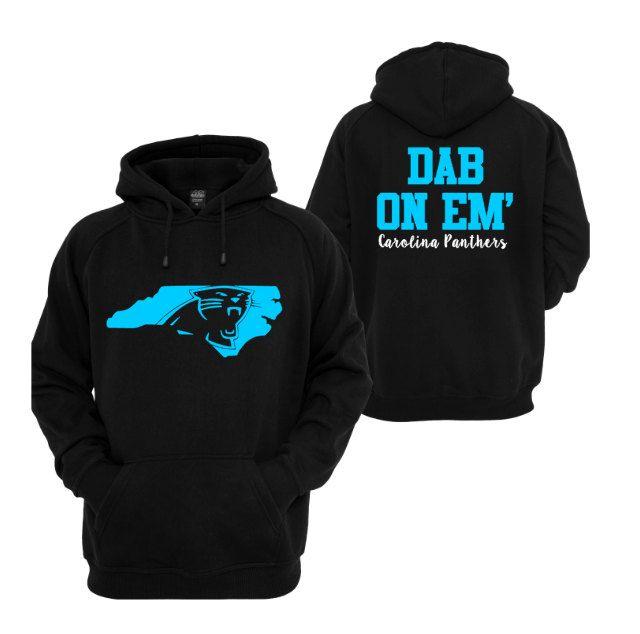 Dab on Em' Hoodie // Carolina Panthers // Panther Nation // Keep Pounding by CarolinaMomDesigns on Etsy