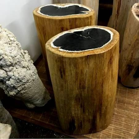 Petrified Wood, Petrified Wood Stools, Solid Wood Table, Natural Edge Tables, Live Edge Lumber, Live Edge Timber, Home Decor, Stone Tiles.