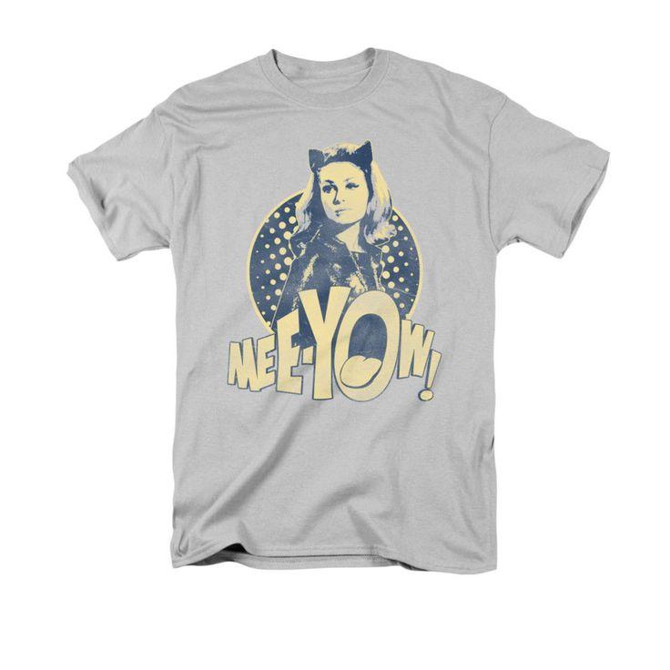 Batman Classic TV Meeyow T Shirt s s Adult 18 1 Silver | eBay