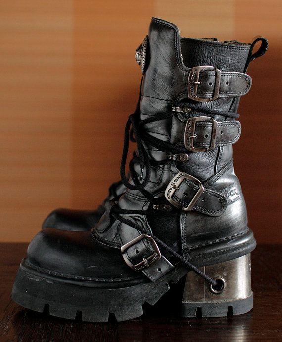 New Rock platform boots GOTH by VintagePlatformDeal