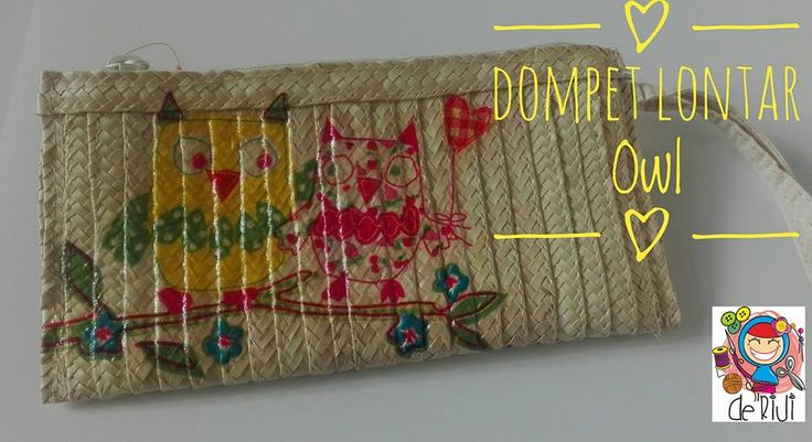 Dompet Resleiting Material Lontar Ukuran 22cm x 11cm