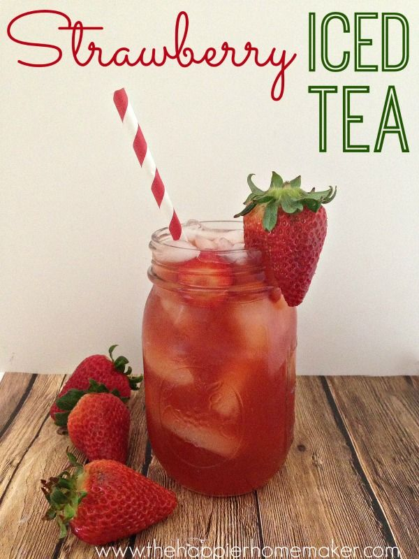 Yum! Strawberry iced tea recipe