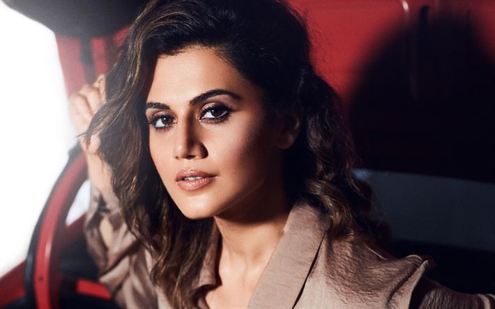 Download wallpapers Taapsee Pannu, Bollywood, indian actress, beauty, brunette, photoshoot
