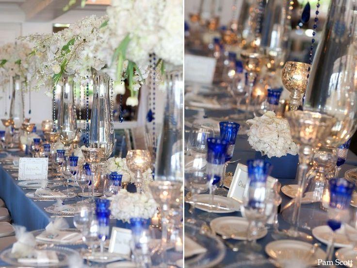 Blue And Silver Wedding Centerpieces La Valencia Hotel La Jolla Cobalt Blue  Wedding San Diego Wedding Wallpaper