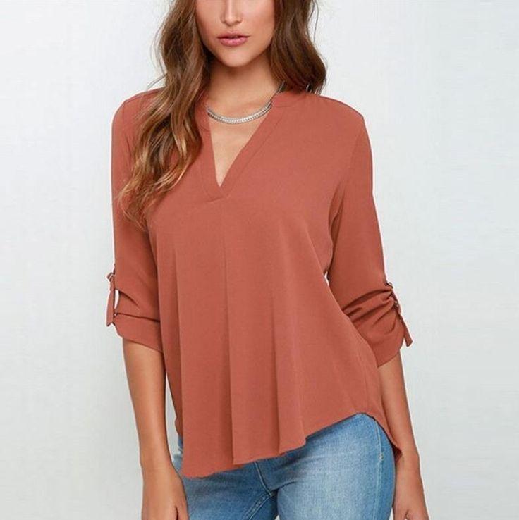 Moderní dámská volná košile s V výstřihem oranžová – Velikost L Na tento produkt se vztahuje nejen zajímavá sleva, ale také poštovné zdarma! Využij této výhodné nabídky a ušetři na poštovném, stejně jako to udělalo …
