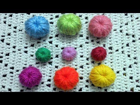 Como tejer botones en tejido crochet tutorial paso a paso. - YouTube                                                                                                                                                      Más