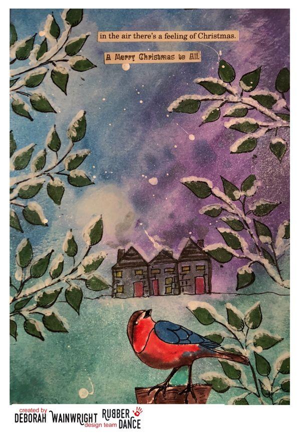 * Rubber Dance Blog *: It's nearly Christmas - Art Journal Tutorial by De...
