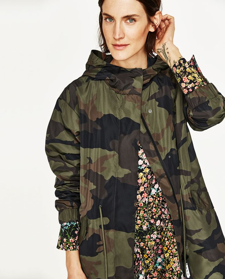 Image 6 of CAMOUFLAGE PRINT PARKA from Zara