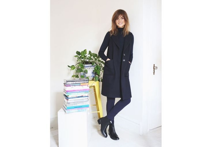 My 24hrs style? Minimal! The sleeveless coat, a jumper and a pair of skinny pants. #pennyblack #allblack #ny