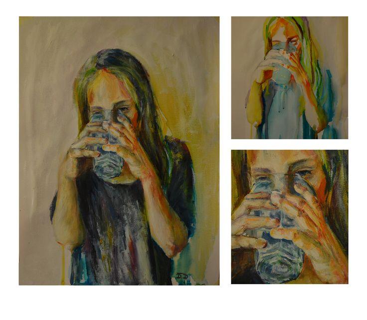 Dominika Ďurechová - Sister , painting (acryl on canas)