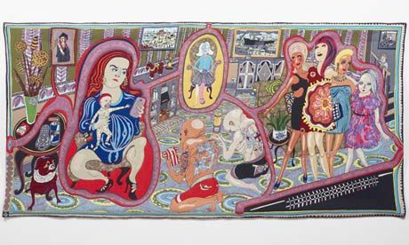 Grayson Perry tapestry, The Adoration of Cage Fighters, 2012