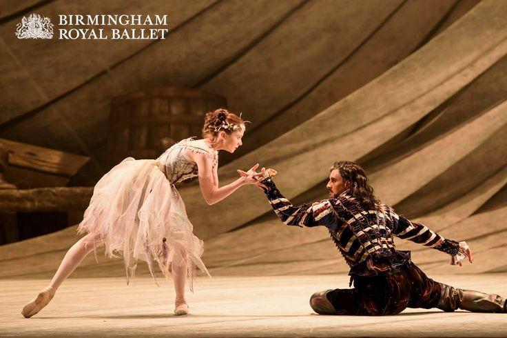 Jenna Roberts as Miranda, Prospero's daughter, and Iain Mackay as Prospero, the former Duke of Milan
