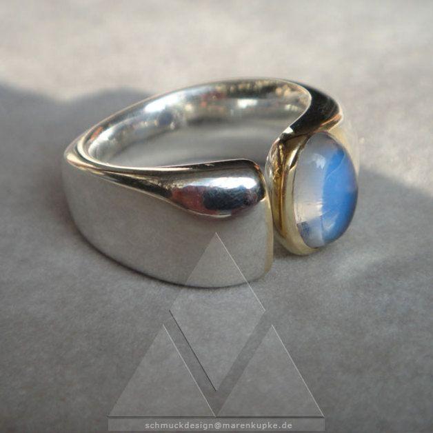 18 besten Ringe Mondstein & Chalcedon Bilder auf Pinterest