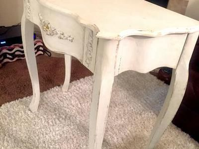 Shabby Chic White Entry Table | ksl.com