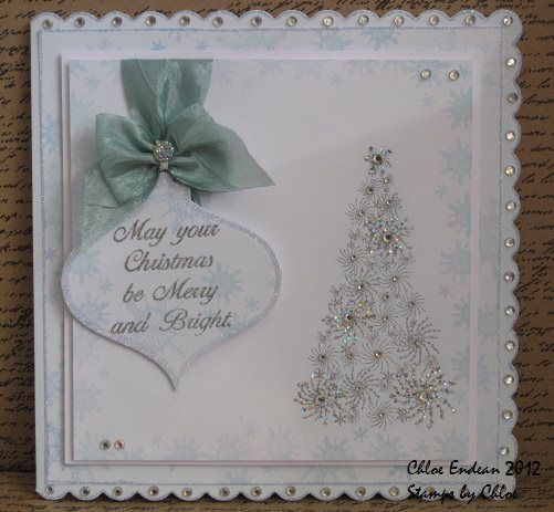 Made by Chloe Using Stamps by Chloe Starry Tree Merry and Bright Snowflake Cluster