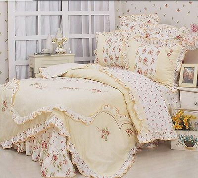 New-arrival-princess-floral-ruffle-bedding-sets-queen-king-duvet-cover-set-4Pcs