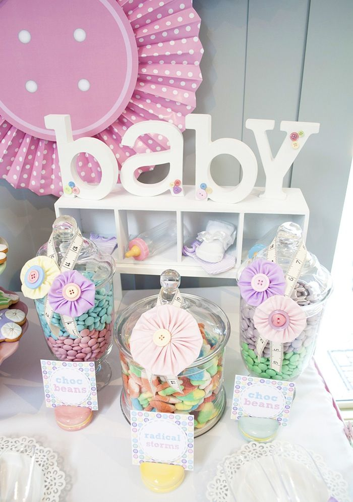 Cute as a Button Baby Shower with SUCH CUTE IDEAS via Kara's Party Ideas | KarasPartyIdeas.com #girlbabyshower #cuteasabuttonparty #partyideas (12)