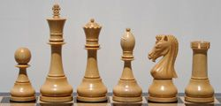 """Marvelous Knight Chess set in Budrosewood 5"""" King"""
