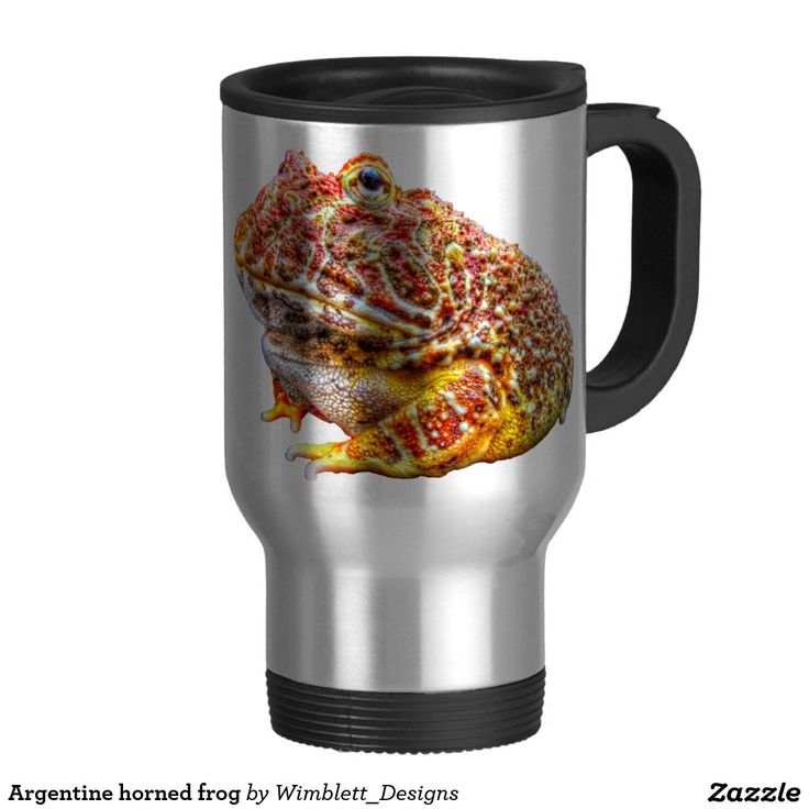 Argentine horned frog stainless steel travel mug