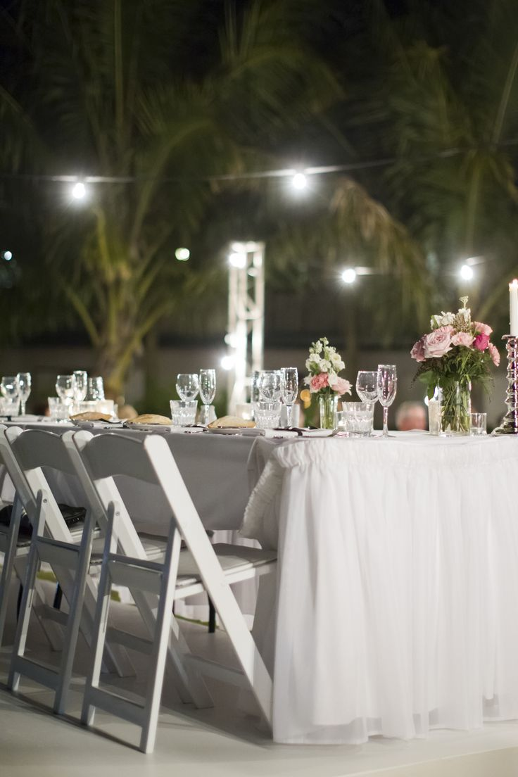 Outdoor Wedding Reception - Mercure Townsville - Lakeside Lawn - Tropical Gardens - Stunning Details - Photo Credit: Stephen Lane Photography