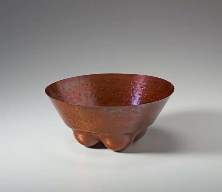 """JACK DA SILVA TANGENTS 1  Functional bowl. Copper, raised with multiple centers.  4.5"""" x 9"""" x 9""""  Included in """"Tangents: Work by Jack da Silva,"""" 2015. Photo: M. Lee Fatherree"""