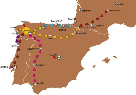 Camino Frances Map on