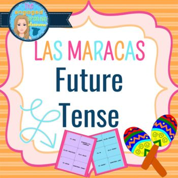 Spanish Future tense, el futuro, Spanish conjugation game, Spanish future practice Spanish 3 Future Tense Maracas Game: Las Maracas del Futuro Aligns with any future tense unit, including Exprésate 2 chapter 8 This is a fun game that gets EVERY student engaged at the same time, for
