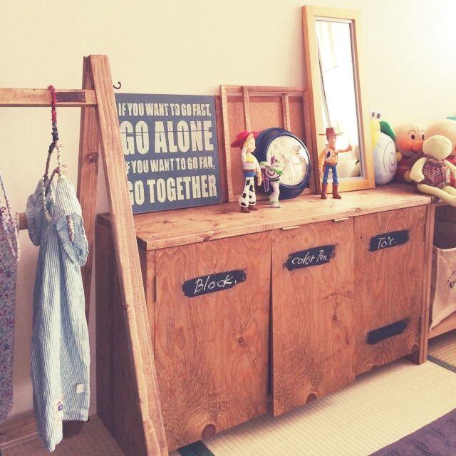 marioさんの、salut!,子供部屋,DIY,salut!!,3Coins,雑貨,カラーボックス,リビング,のお部屋写真