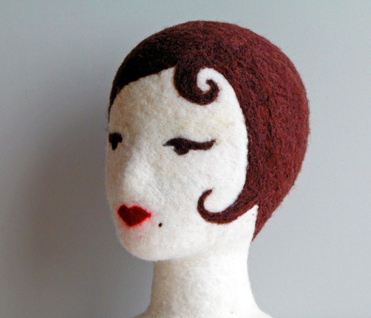 I love my felt Poupee - PDF Instruction for milliners, display artists, artists advanced and beginners