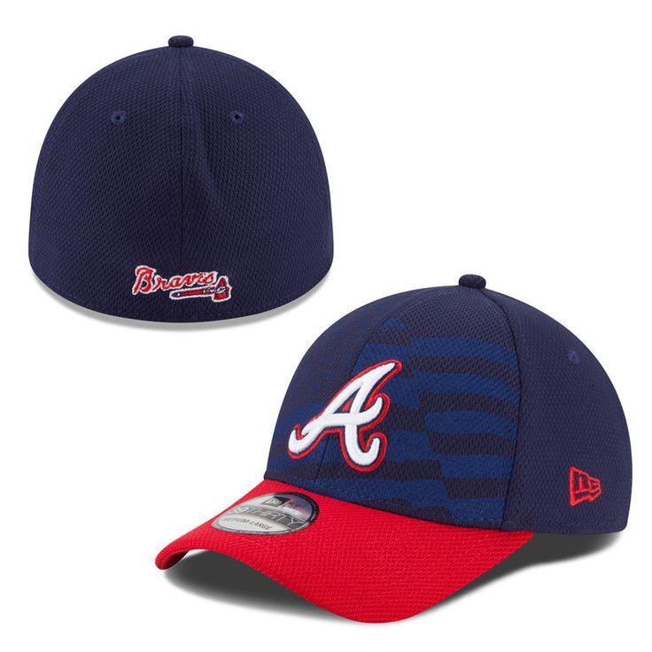 Atlanta Braves New Era New Era Stars & Stripes 4th of July Diamond Era 39THIRTY Flex Hat - Navy