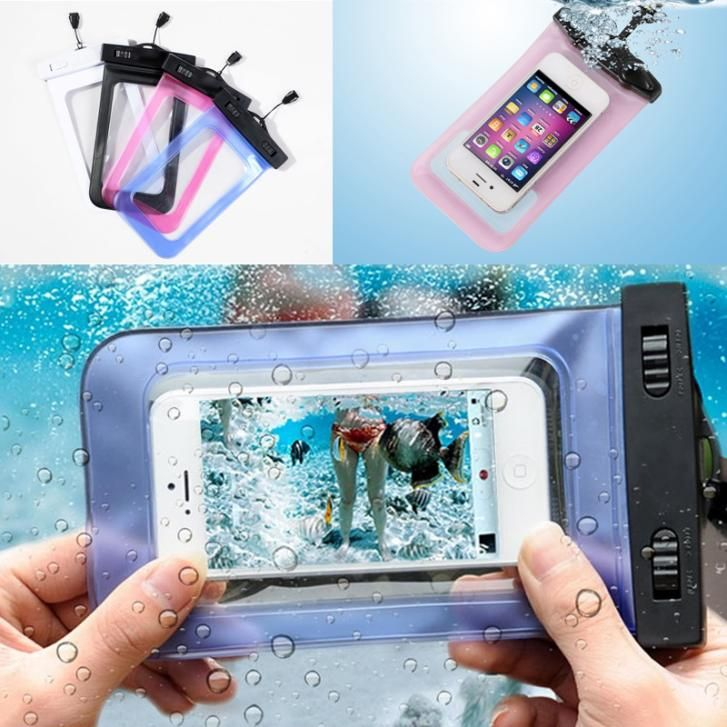 1 pcs •̀ •́  NEW Transparent Waterproof Underwater Pouch Bag Dry ₩ Case Cover For Mobile Phone1 pcs NEW Transparent Waterproof Underwater Pouch Bag Dry Case Cover For Mobile Phone