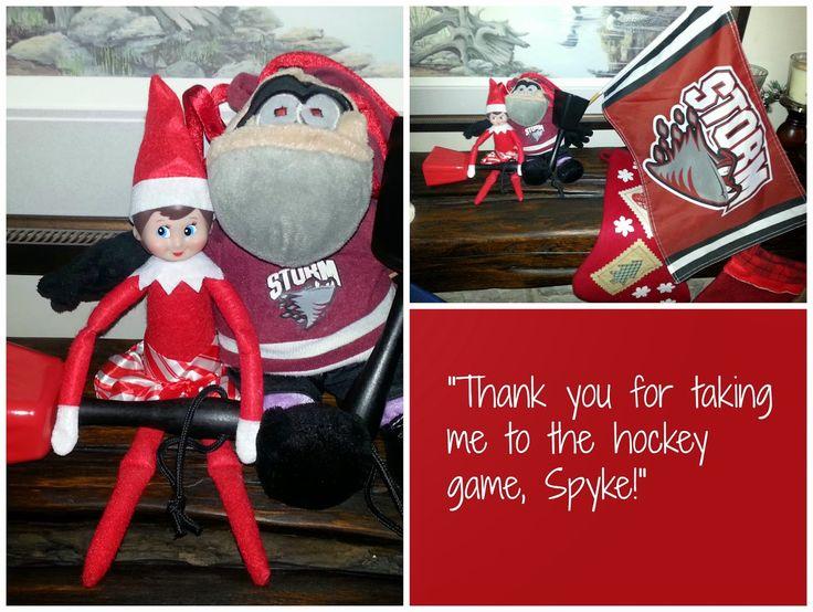 Elf on the Shelf is a big Guelph Storm hockey fan!