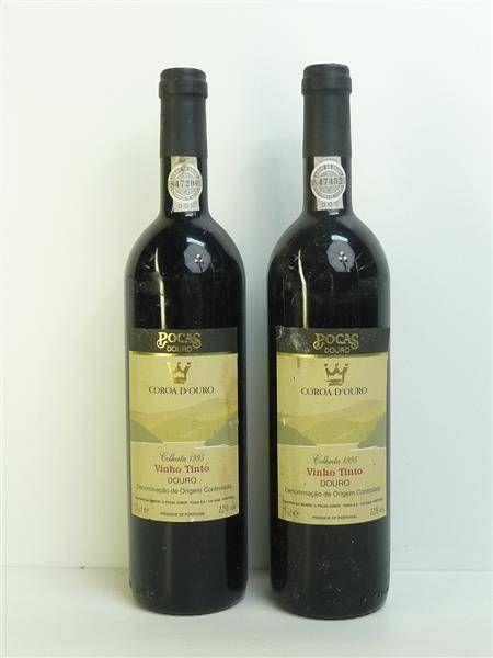 Lote 304 - 11 garrafas de Vinho Tinto Coroa D´Ouro - Poças Douro, colheita de 1995, Nota: garrafas provenientes de uma garrafeira particular onde estavam armazenadas com todas as condições necessárias ao seu perfeito acondicionamento, PVP Estimado 180€ - Price Estimate: €0 - $0