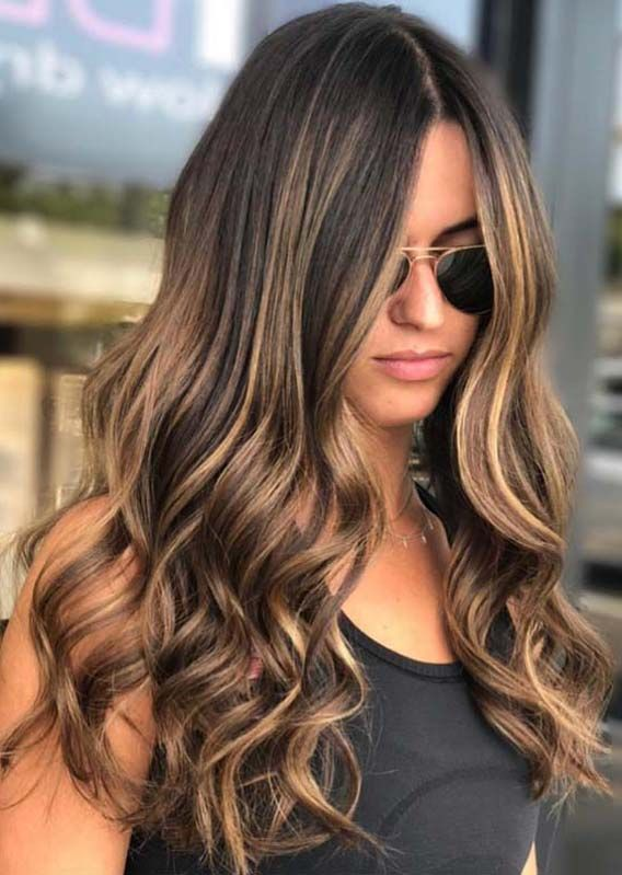 38 Awesome Brunette Balayage Hair Color Trends In Year 2019 Absurd Styles Brown Hair With Blonde Highlights Hair Color Balayage Long Hair Styles