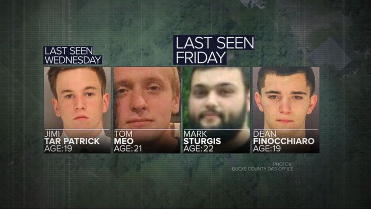 Transcript for  Connections found in search for 4 missing men  There are breaking developments coming in from just outside Philadelphia. Four young men vanishing. The FBI tonight is now involved and authorities say they do believe there was foul play. ABC's Eva pilgrim is on the scene.... - #Connections, #Men, #Missing, #Search, #TopStories, #Video