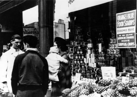 Food Stamp Program in Rochester, 1930's. | New York State Archives