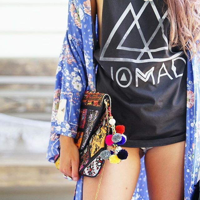 India Clutch + Nomad Tee  +++ all online at www.threadedearth.com