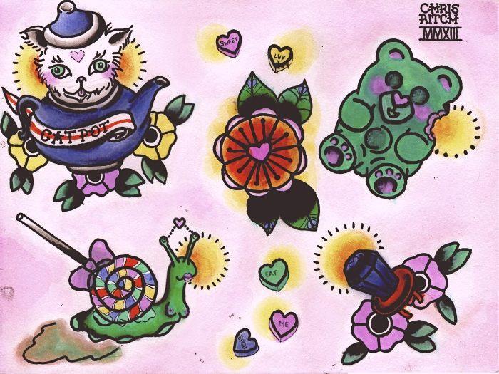 #sugar #rush #flash #art #cat #teapot #flower # ...