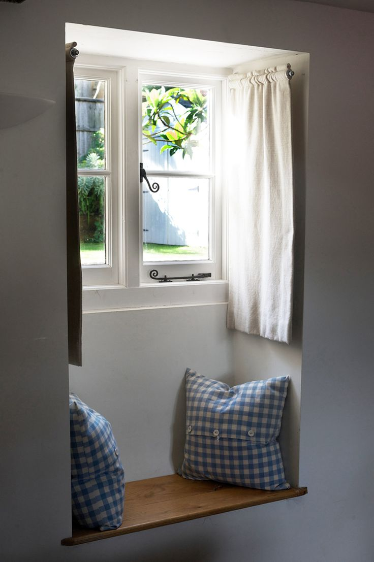 Inside house windows with curtains - Pivoting Curtain Rods Great For
