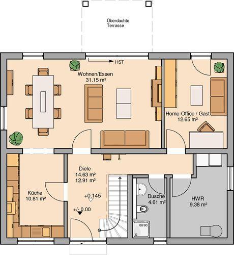 Familienhaus Signum Plus von Kern-Haus | Großer Balkon