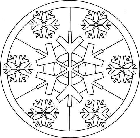 Mandala di inverno. I mandala sono diagrammi o rappresentazioni simboliche utilizzate nel buddismo e nell'induismo. Sono spesso rappresentati da un cerchio. Si dice che dipingere mandala sia molto buono per rilassarsi e ...
