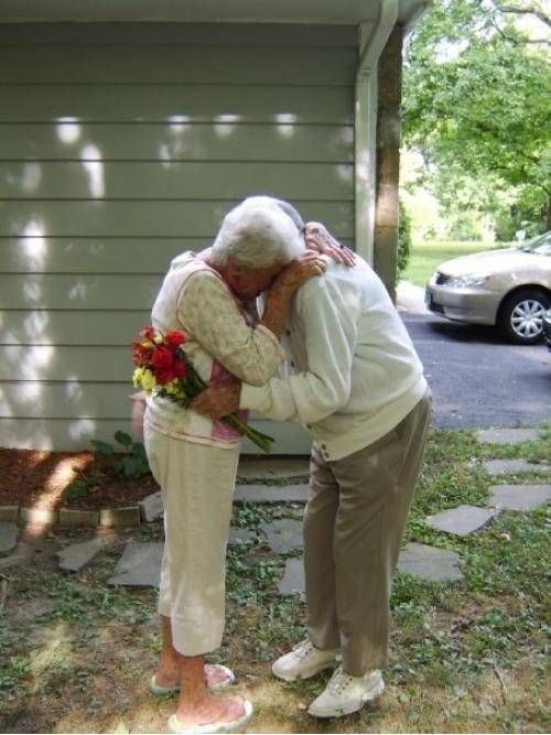 """My grandparents 60th wedding anniversary. My grandfather had Alzheimer's. He didn't remember his children, his home or anything else, but as bad as it got, whenever he saw my grandmother he would say, """"Look at my beautiful wife!"""""""