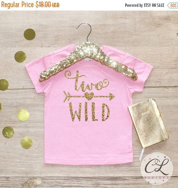 Fall Blowout Sale Birthday Girl Shirt / Baby Girl Clothes 2 Year Old Outfit Second Birthday Shirt 2nd Birthday Girl Outfit Tshirt Two Wild S by CourtneyLeighPrints on Etsy www.etsy.com/...